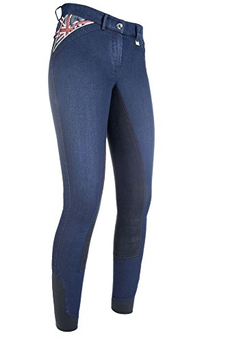 HKM Damen Reithose Denim-Global Team-3/4 Alos Besatz Hose