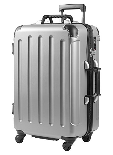 VinGardeValise Trolley Grande (69x45x32)   Wein-Reisegepäck   Reisekoffer für jeden Anlass   Bis zu 12 Weinflaschen (Silber)