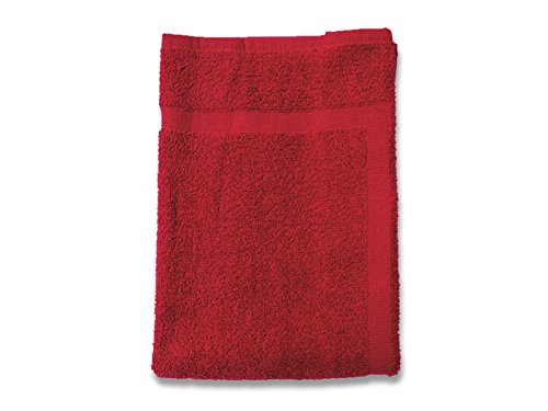 Soleil d'ocre 477101 Douceur Tapis de Bain Coton Rouge 50 x 80 cm
