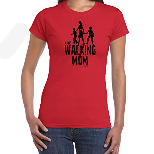 Damen t-shirt Walking MOM (Mum)-Walking Dead Inspired lustige shirts fun shirt Perfektes Geschenk für geliebte Womens Funny T Shirts (Lustig, Mom-t-shirts)