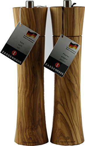 Zassenhaus Set Serie Frankfurt 14cm Salz- und Pfeffermühle Farbe robustes Olivenholz