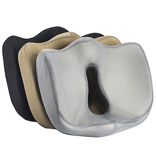 Cojín para Sentarse de 100% Espuma viscoelástica - Ergonómico, reducción de la tensión, Dolor Parte Baja de la Espalda -...