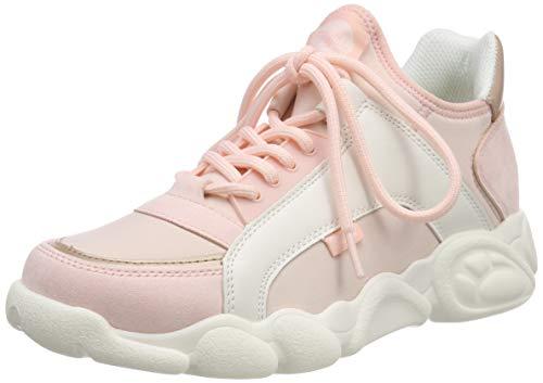 Buffalo Damen CALI Sneaker, Mehrfarbig (Pink/White 000), 39 EU
