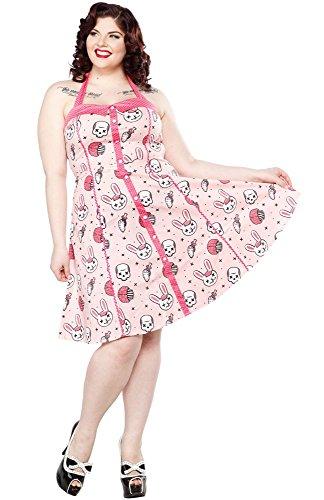 Sourpuss zOMBIE pEGGY dRESS robe sPDR178 bUNNIES Rose - Rose clair