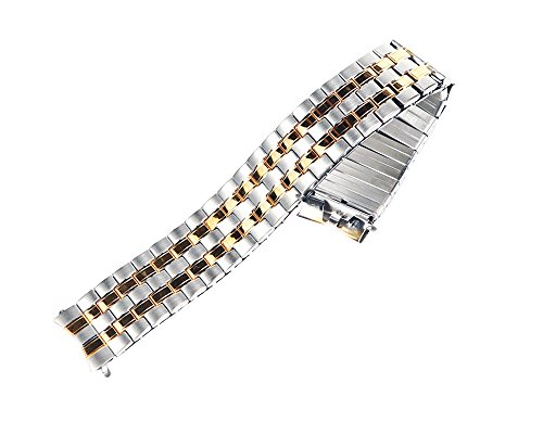 Timex Two-tone Stainless Steel 16mm Watch Band TX752T Fits T2N093 - Band 16mm Watch Timex