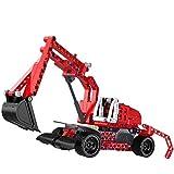DIY 2 In 1 Bagger Spielzeug Groß Bagger Baustein Spielzeug Zusammenbauen Ferngesteuertes Auto Bagger Kinder Lernspielzeug, Ideales Geschenk Für 2-5 Jährige