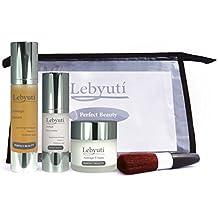 Lebyutí Crema Facial Antiarrugas Hidratante + Serum Efecto Lifting + Contorno de Ojos para mujer y