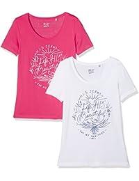 HIS Doppelpack, Camiseta para Mujer, (Pack de 2)
