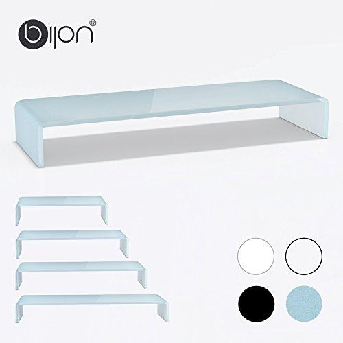 bijon® TV Glasaufsatz Monitor Erhöhung (B/T/H) 900x300x130mm - superweiß
