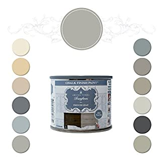 Amitha Verma Chalk Finish Paint, No Prep, One Coat, Fast Drying | DIY Makeover for Cabinets, Furniture & More, 4 Ounce, (French Gray) by Amitha Verma