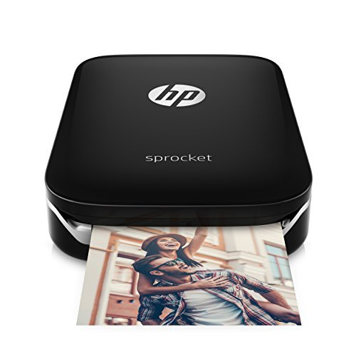 HP Sprocket Imprimante Photo portable (Bluetooth, Impression Couleur sans Encre 5 x 7,6 cm) Noir