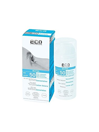 Eco Cosmetics - Loción Solar Neutral FPS 50 EcoCosmetics, 100 ml