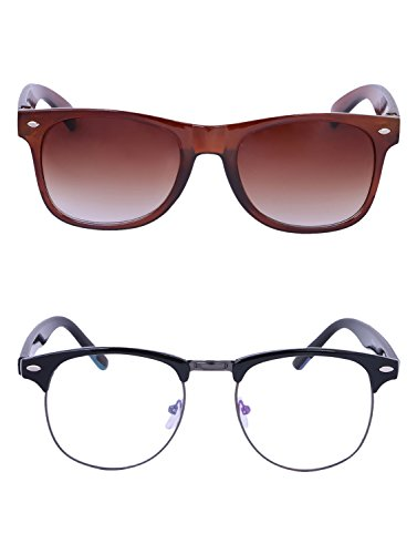 Amour-propre AmourPropre Multicolor UV Protected Unisex sunglasses Pack of 2_(AM_CMB_LP_2659)