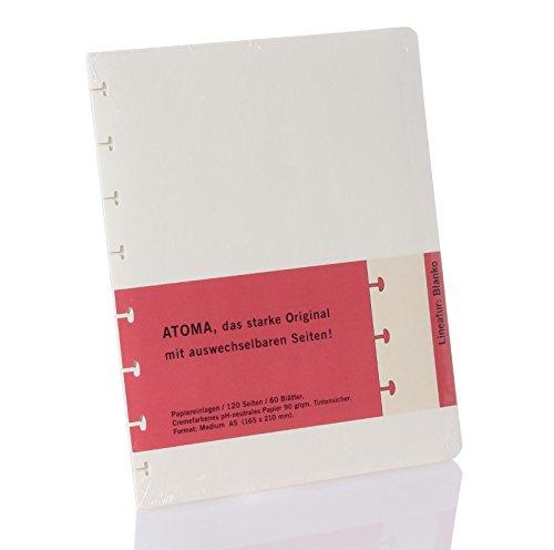 Atoma - Surrogato Fogli A5, 120 paginas vuoto, crema