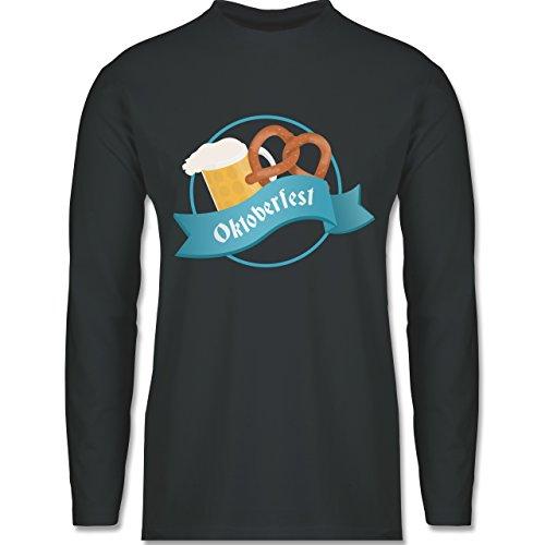 Oktoberfest Herren - Oktoberfest - Longsleeve / langärmeliges T-Shirt für Herren Anthrazit