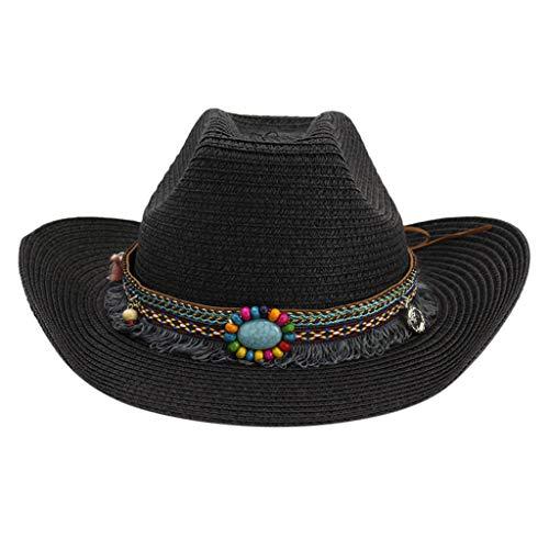 riou Sombrero de Vaquero Occidental Estilo Nacional Grande Hombres Muj