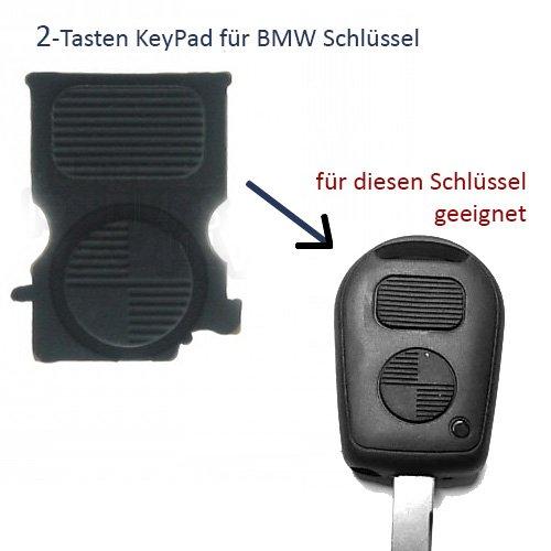 BMWTastenfeld - 1x Ersatz Gummipad mit 2 Tasten ERSATZTASTE für Auto Schlüssel Tastenfeld Gummitasten. Jurmann Trade GmbH® (für BMW Tastenfeld)