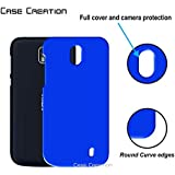 "Nokia 1 Back Cover, Case Creation TM Hard Back Case Cover For Nokia 1/Nokia1 4.5"" Inch 2018- Dark Royal Blue"
