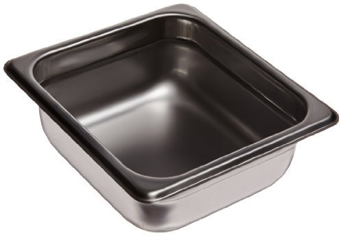 Carlisle 607162 Stainless Steel 18-8 DuraPan Light Gauge 1/6 Size Anti-Jam Food Pan, 1.6 quart Capacity, 2.5
