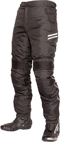 Motorrad-chaps Frauen (Lookwell Vision Textil Motorrad Reiten Hosen für Damen und Herren, Schwarz, Größe XL)