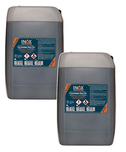 INOX® Wheel Star Felgenreiniger, Säurehaltiges Konzentrat für starke Verschmutzungen - 2 x 25 Liter