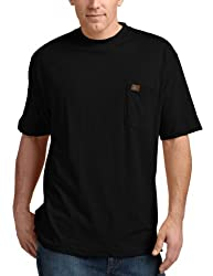 RIGGS WORKWEAR by Wrangler Mens Big & Tall Pocket T-Shirt, Black, XXXX-Large