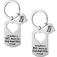 Tatuo 2 PiecesTeacher Keychain Teacher Appreciation Gifts Teacher Jewelry for Showing Your Appreciation