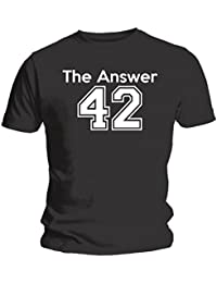The Answer - Hitchhiker's Guide To The Galaxy Inspired Unisex T-Shirt - Black