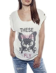 Ella Manue Frauen V-Neck Shirt These Wings Are Made To Fly Print