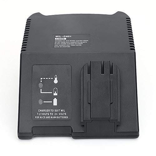 Akku Ladegerät Batterie Adapter Für AEG/Milwaukee Ni-CD/Ni-MH Batteries, AEG/Milwaukee B9.6, BX9.6, BXS9.6, MX9.6, BXS12, 48-11-1967, 48-11-1960, 48-11-1950, 48-11-1900 ()