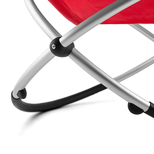 blumfeldt Chilly Billy ergonomische Relaxliege Liegestuhl Gartenstuhl Klappstuhl (Liege, 180 kg maximale Belastung, atmungsaktiv, witterungsbeständig, pflegeleicht, faltbar) rot - 8