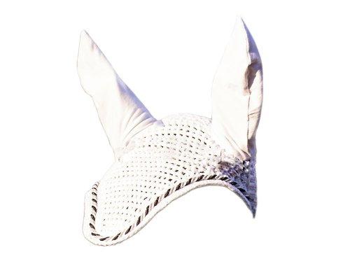 Kerbl 323619 Fliegenhaube Classic, weiß (Gehäkelte Weiße Haube)