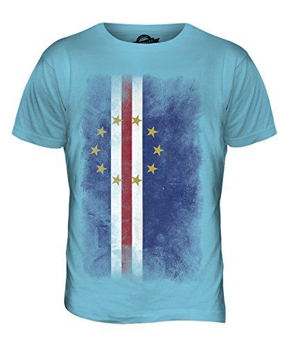 CandyMix Kap Verde Verblichen Flagge Herren T Shirt Himmelblau