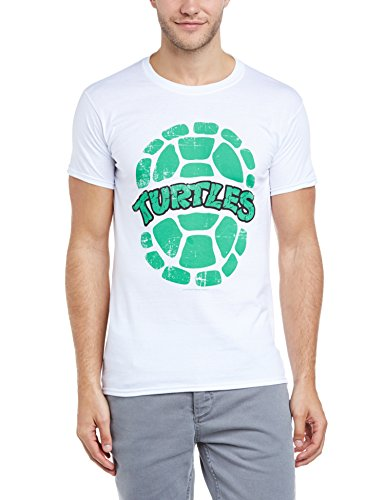Teenage Mutant Ninja Turtles - T-shirt, Uomo, Bianco (White), XL