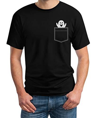 st in der Tasche Herren T-Shirt XXXX-Large Schwarz ()