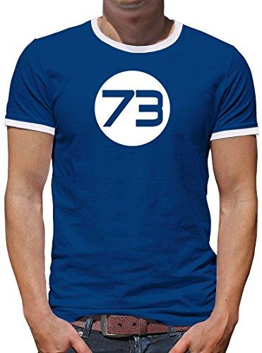 TLM Sheldons Best Number 73 Kontrast T-Shirt Herren XL Königsblau
