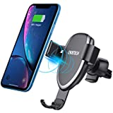CHOETECH 7.5W Fast Wireless Car Charger Mount Compatible with Apple iPhone XR/XS/XS Max/X/8/8Plus,10W for Galaxy Note 9/S9/S8/Note 8,5W for HUAWEI Mate 20Pro Gravity Wireless Car Charger Phone Holder