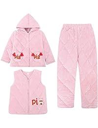 OPPP Pijamas de niños Pijamas para niños, niñas, Invierno, Coral Grueso, Polar