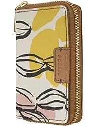 1fdf42589b19c5 FOSSIL Damen Geldbeutel Geldbörse Kartenetui mit RFID-Chip Schutz  Braun/Weiß 6273