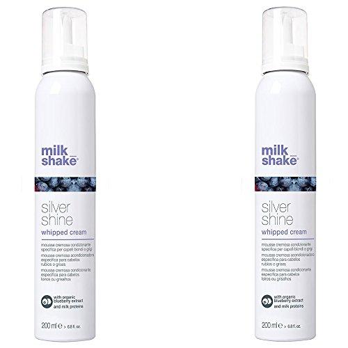 Milk Shake Silver Shine Conditioning Whipped Cream Duo Pack 2 x 200 ml  Mousse cremosa condizionante spécifique pour cheveux blonds ou gris 400 ml