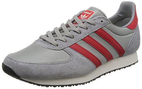 adidas Zx Racer, Chaussures de Running Entrainement Homme Gris (Mgh Solid Grey/Lush Red S16-St/Chalk White)