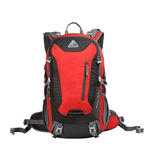 Zaino Outdoor/Escursionismo zaino/Zaini sportivi/Pacchetto campeggio impermeabile leggero-verde 40L rosso