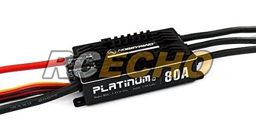 Motor Hobbywing Und Esc (RCECHO® HOBBYWING Platinum 80A V4 RC Model Brushless Motor ESC Speed Controller SL103 with RCECHO® Full Version Apps Edition)