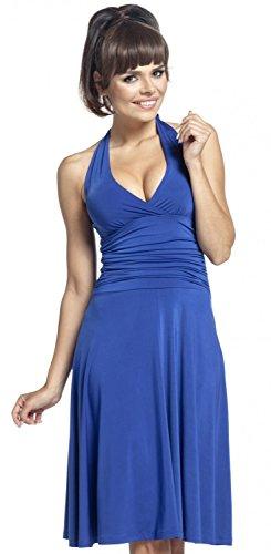 Zeta-Ville-Womens-50s-Silky-Flared-Midi-Dress-Halterneck-Rockabilly-163z