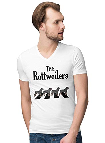 Crossing Light T-shirt (The Abbey Rottweilers Crossing The Road Men's Novelty V-Neck T-Shirt T-Shirts & Hemden(Large))