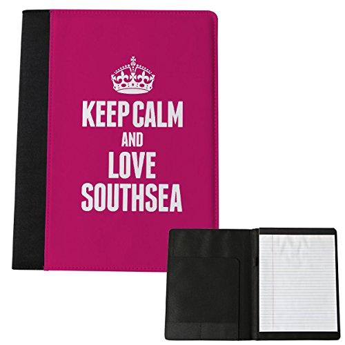 Pink Keep Calm und Love bezogene Lehnstuhl Southsea Notizblock Groß 0595
