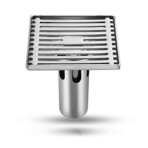 Duschraum Bad Waschmaschine Abwasserkanal Bad Edelstahl 304 Deodorant dicken quadratischen Abfluss weiß 98mm * 98mm - Bronze Stopper Assembly