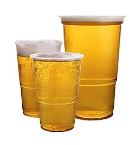 Klar gekennzeichneter Pint 1stabiler Kunststoff Einweg Bier Gläser, Tassen Tumbler.,