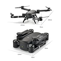 OOFAY® Drone with Camera QS005 Folding Remote Control Aircraft Aerial Quadcopter Air Pressure Set High WIFI Map Of Drone Aircraft Model Toys