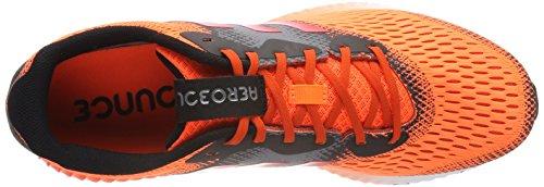 adidas Aerobounce M, Scarpe Running Uomo Rosso (Solar Orange/hi-res Red/night Metallic)